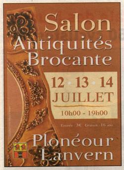 Salon antiquaires antiquit s brocante ploneour lanvern 2008 halle raphalen pays bigouden - Salon antiquites brocante ...