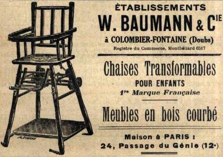 Baumann mobilier pour enfants voiture pliante chaises et for Porte manteau baumann