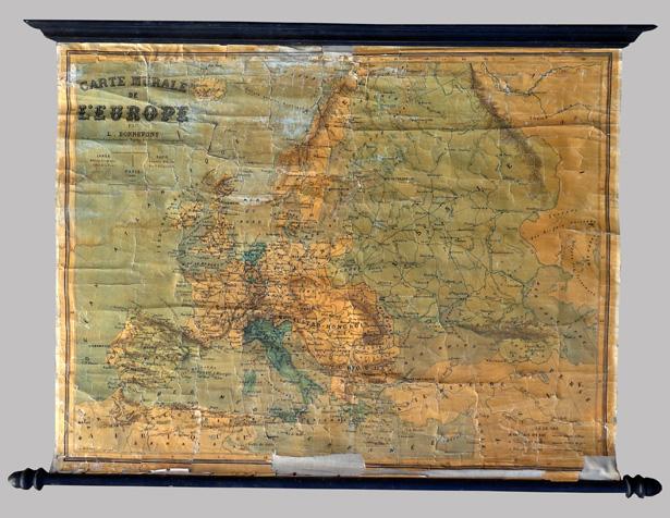 carte murale g 233 ographique de l europe du g 233 ographe louis bonnefont