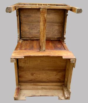 petit bureau ancien en teck originaire de l 39 inde. Black Bedroom Furniture Sets. Home Design Ideas