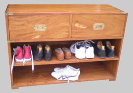 Original meuble chaussures ancien - Petit rangement chaussures ...