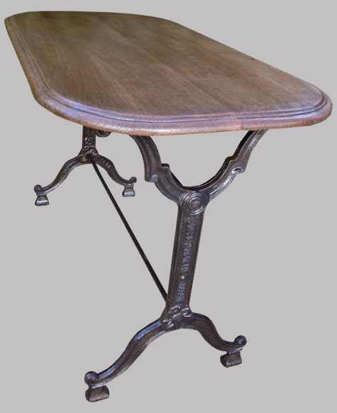 Chalmette jules table de bistrot ancienne - Table de bistrot ancienne ...