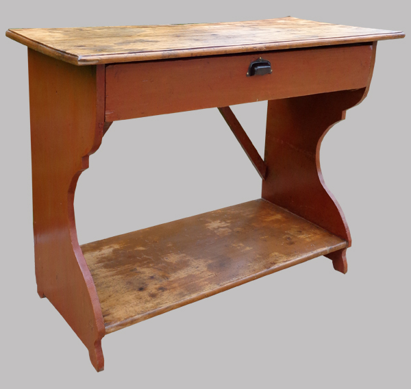 etag re console ancienne en bois peint avec grand tiroir. Black Bedroom Furniture Sets. Home Design Ideas