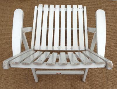 fauteuils de jardin r gleizes pliables et peints en blanc. Black Bedroom Furniture Sets. Home Design Ideas