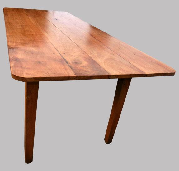 belle grande table rectangulaire ancienne en bois fruitier. Black Bedroom Furniture Sets. Home Design Ideas