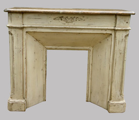 anciens encadrements de chemin e en bois peint vendus par fabienne blondiau. Black Bedroom Furniture Sets. Home Design Ideas