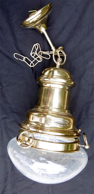 Lampe suspension marine international sea line 1850 - Grande lampe a bulle ...