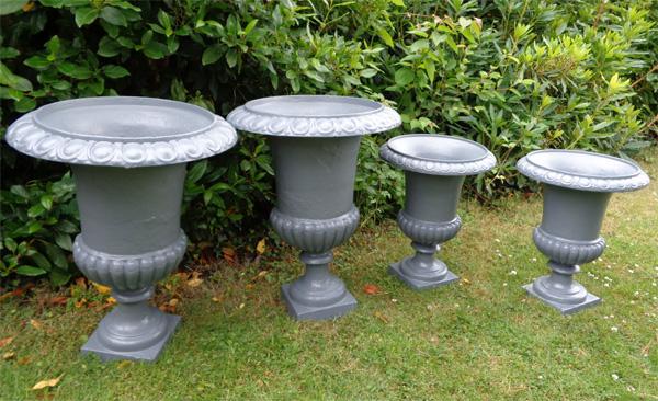 Medicis vases anciens en fonte pour le jardin - Pot en fonte pour jardin ...