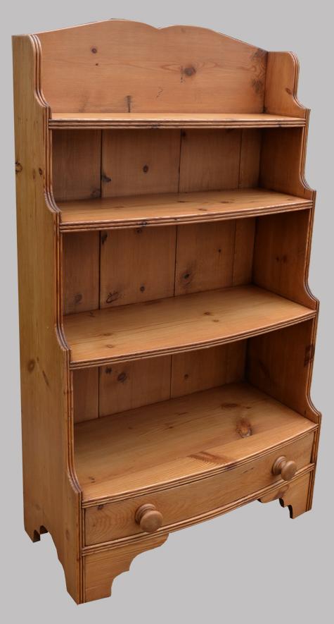 Petite bibliothèque étagère meuble anglais en pin blond