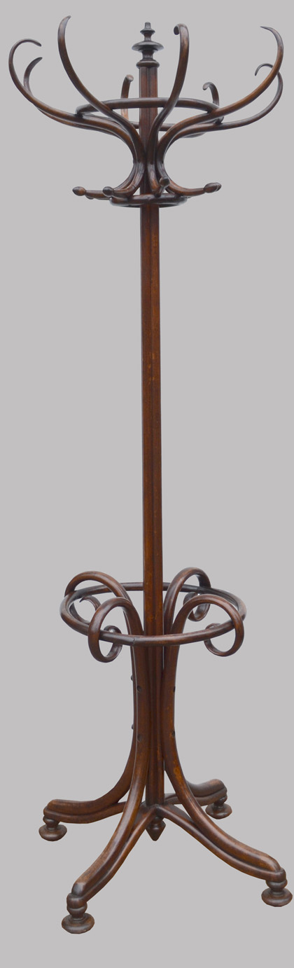 Porte Manteau Perroquet Ancien En Bois Courb Style Thonet