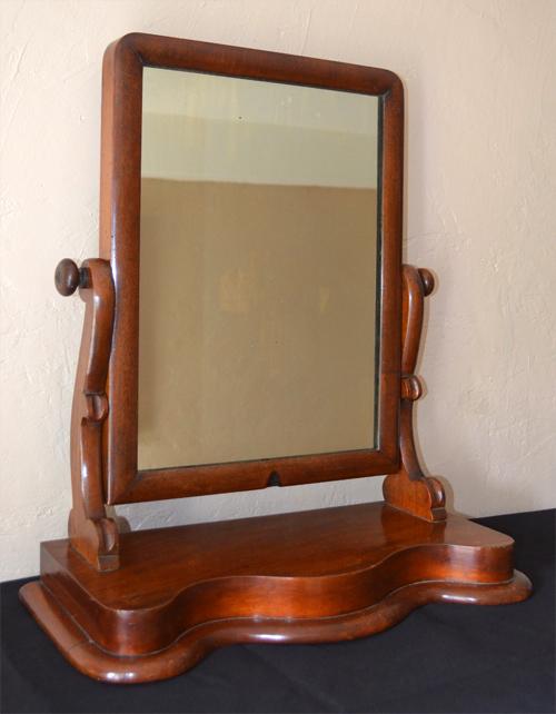 miroir ancien psych poser en acajou blond. Black Bedroom Furniture Sets. Home Design Ideas