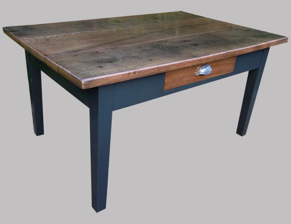 Table basse ancienne pour salon en ch taignier - Table basse pour salon ...