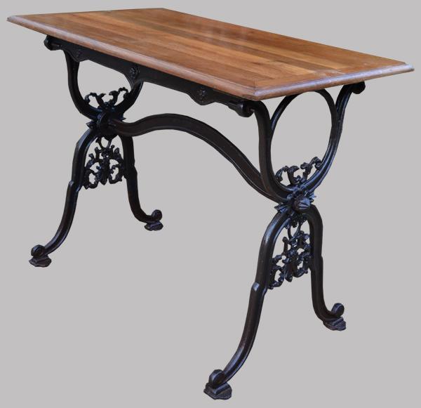 Bistrot table ancienne pied en fonte et plateau en ch ne - Pied de table bistrot ...