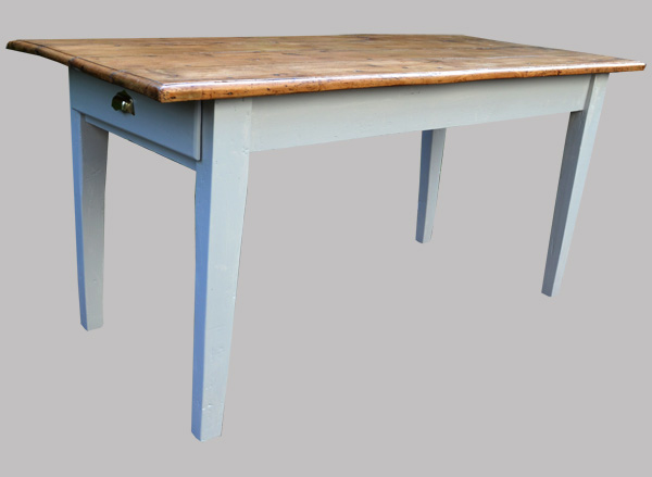 table rectangulaire ancienne plateau bois naturel. Black Bedroom Furniture Sets. Home Design Ideas