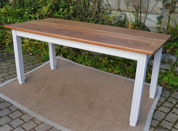 Table rectangulaire ancienne plateau bois naturel for Table bois ancienne rectangulaire
