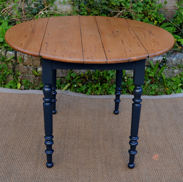 Table ronde pour cuisine plateau en bois naturel for Pied pour table ronde