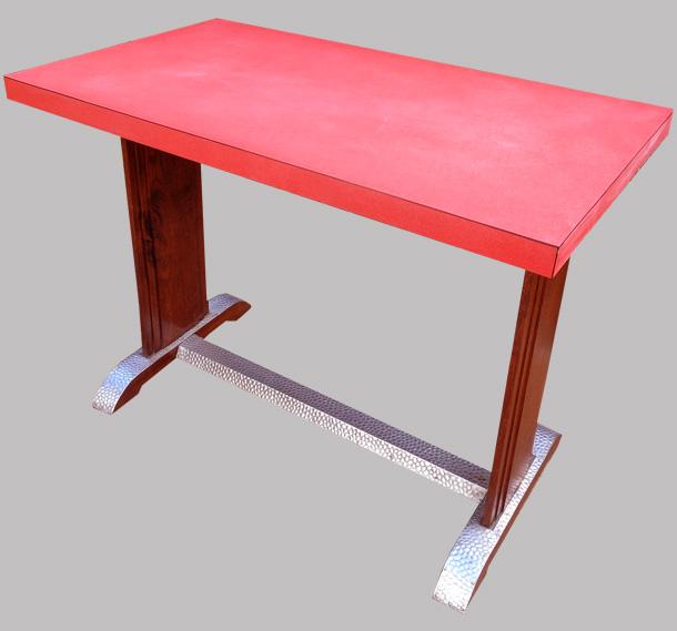 Table de bistrot formica rouge ann es 1950 - Table de bistrot occasion ...