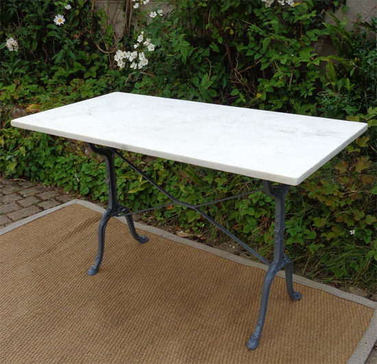 Table en marbre rectangulaire table de lit a roulettes - Table bistrot rectangulaire aluminium ...