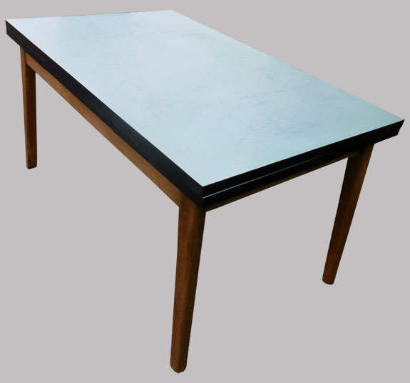 Table de cuisine 2 allonges plateau formica for Plateau table cuisine