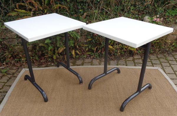 Table de jardin m tallique for Petite table de jardin metallique