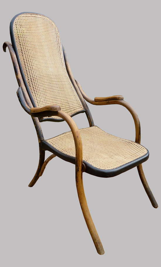 Rare chaise pliante en bois courb type thonet for Modele de chaise en bois
