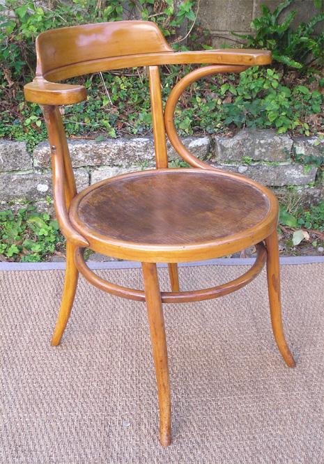 Ancien fauteuil de bureau japy freres fabricant de meubles fesches le chatel 25 - Fauteuil de bureau ancien ...