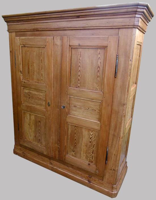 armoire penderie alsacienne en pin naturel. Black Bedroom Furniture Sets. Home Design Ideas
