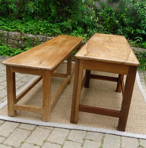 large banc ancien en bois exotique. Black Bedroom Furniture Sets. Home Design Ideas