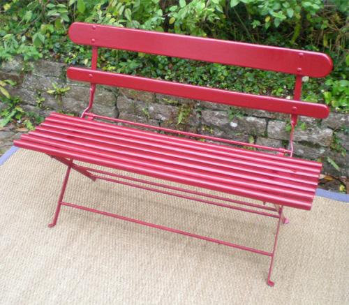 Banc de jardin pliable chaise de jardin aluminium et textilene ...