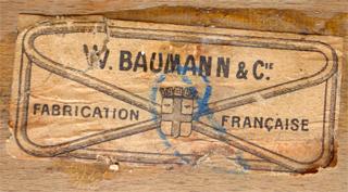Inscription BAUMANN Sur La Roue Du0027une Chaise