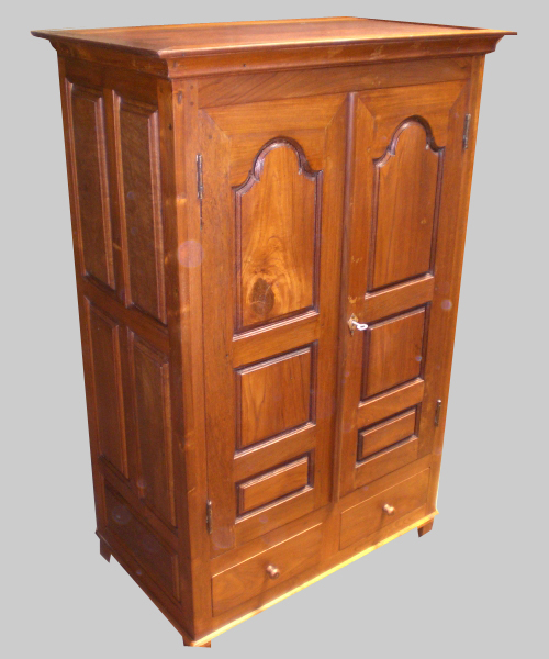 belle armoire ancienne en teck et palissandre d 39 origine. Black Bedroom Furniture Sets. Home Design Ideas