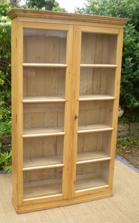 Petite biblioth que ancienne anglaise en sapin - Achat bibliotheque ancienne ...