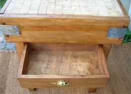 ancien billot de boucher pour cuisine. Black Bedroom Furniture Sets. Home Design Ideas