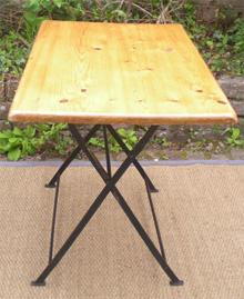 chaise bistro pliante ancienne. Black Bedroom Furniture Sets. Home Design Ideas