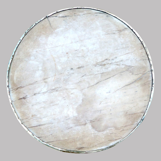 Table de bistrot en fer forg plateau rond en marbre gain - La table du bistrot limoges ...