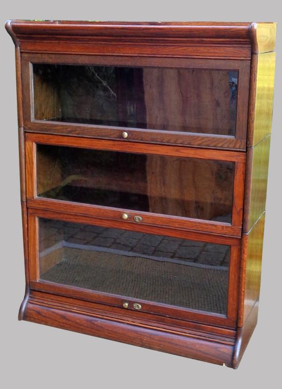 biblioth que anglaise ancienne meuble modulable 3 niveaux de rangement. Black Bedroom Furniture Sets. Home Design Ideas