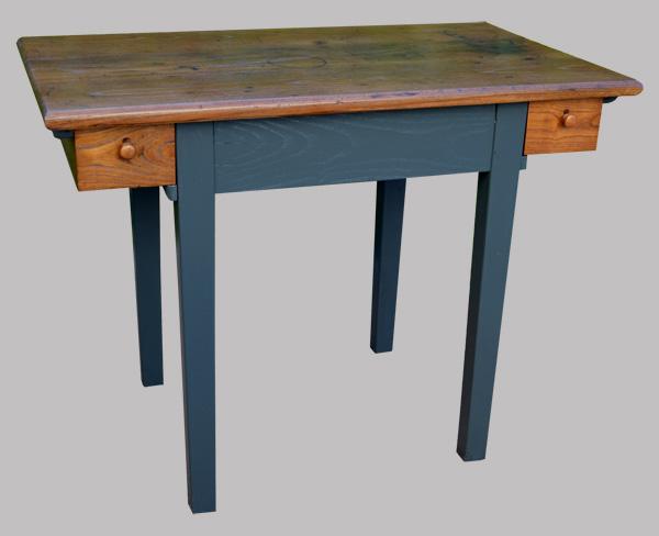 Bureau Peint En Noir : Petite table bureau piètement peint en noir tiroirs
