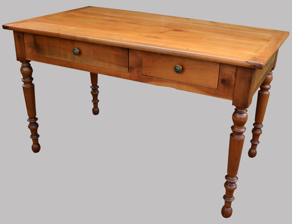 bureau fran ais ancien en merisier. Black Bedroom Furniture Sets. Home Design Ideas