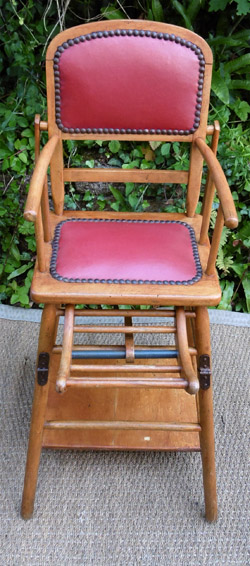 chaise haute pour b b d 39 occasion vintage. Black Bedroom Furniture Sets. Home Design Ideas