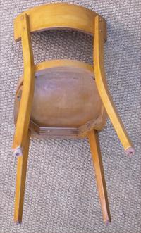 paire de chaise anciennes baumann pour administration en h tre clair. Black Bedroom Furniture Sets. Home Design Ideas