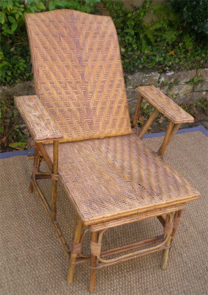 chaise longue ancienne en rotin. Black Bedroom Furniture Sets. Home Design Ideas