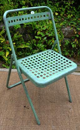 Chaise jardin pliante ancienne - veranda-styledevie.fr