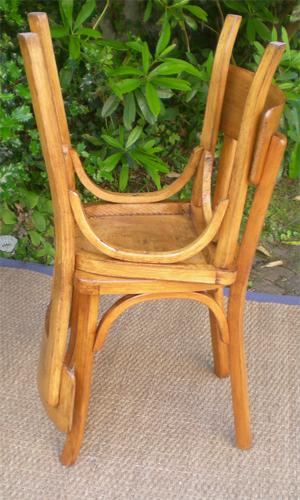 anciennes chaises de bistrot baumann. Black Bedroom Furniture Sets. Home Design Ideas