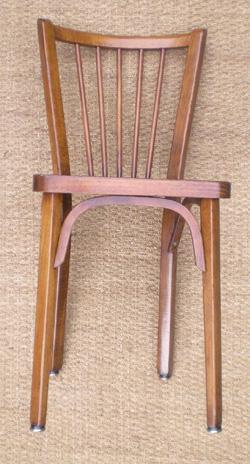 belle s rie de 4 chaises de brasserie marque baumann. Black Bedroom Furniture Sets. Home Design Ideas
