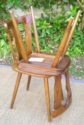 belle s rie de 6 chaises de brasserie en h tre clair de la manufacture macorest de kingersheim. Black Bedroom Furniture Sets. Home Design Ideas