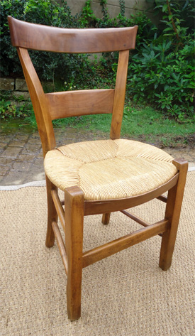 chaises salle manger 4 chaises paill es bois cir. Black Bedroom Furniture Sets. Home Design Ideas