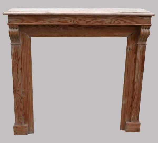chemin e ancienne en bois naturel pour d co salon. Black Bedroom Furniture Sets. Home Design Ideas