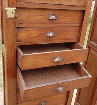 paire de meubles classeurs en colonne 10 tiroirs meuble de notaire. Black Bedroom Furniture Sets. Home Design Ideas