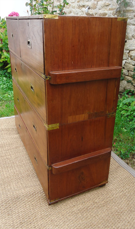 commode bateau ancienne en teck commode de marine. Black Bedroom Furniture Sets. Home Design Ideas