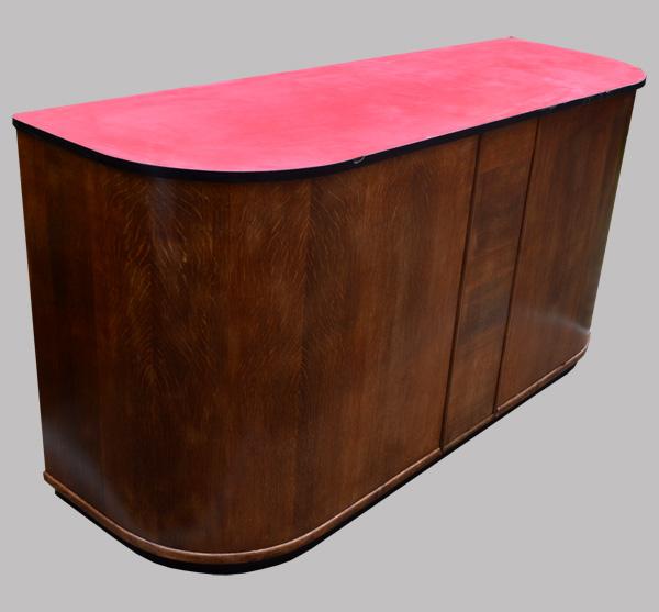 authentique comptoir bar ancien vintage avec plateau en formica rouge. Black Bedroom Furniture Sets. Home Design Ideas